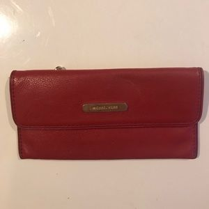 MICHAEL KORS Red Leather Wallet